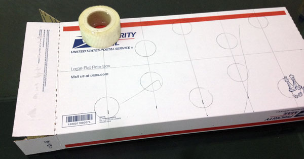 Draw your circles on the box